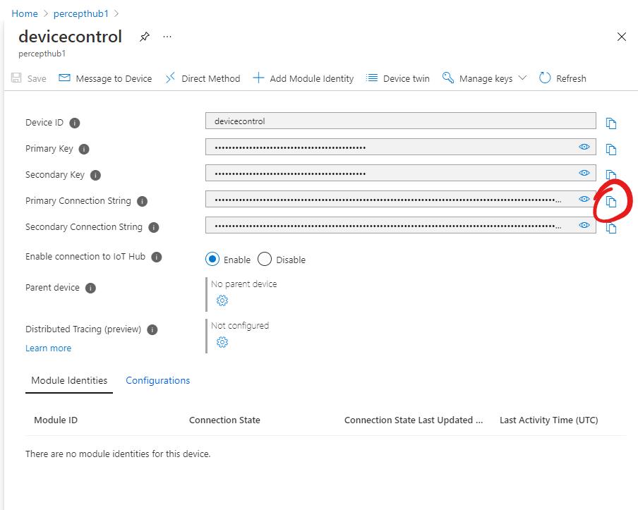 IoT Hub - Device Details
