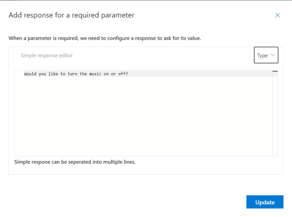 Speech Studio - Add response for Required Parameter