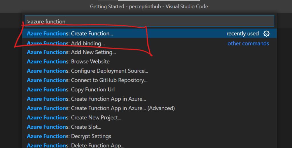 Azure Function - Create Function